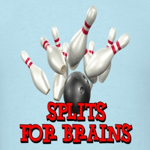 Sky blue Bowling Team Splits for Brains T-Shirts - Men's T-Shirt