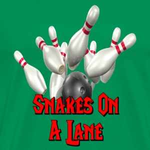 Sage Bowling Team Snakes on a Lane T-Shirts - Men's Premium T-Shirt
