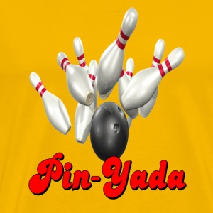 Yellow Bowling Team Pin-Yada T-Shirts - Men's Premium T-Shirt