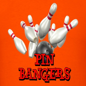 Orange Bowling Team Pin Bangers T-Shirts - Men's T-Shirt