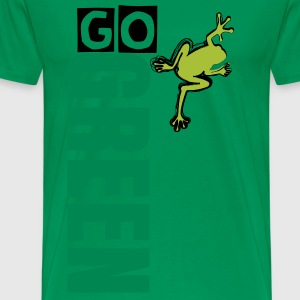 Go green frog - Men's Premium T-Shirt