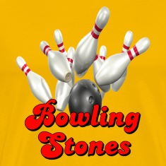 Yellow Bowling Team Bowling Stones T-Shirts