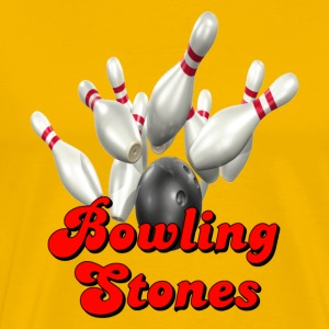 Yellow Bowling Team Bowling Stones T-Shirts - Men's Premium T-Shirt