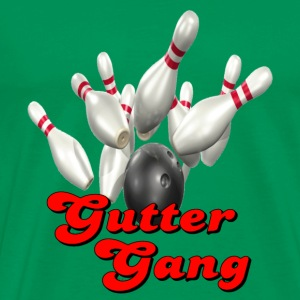 Kelly green Bowling Team Gutter Gang T-Shirts - Men's Premium T-Shirt