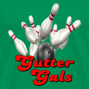 Kelly green Bowling Team Gutter Gals T-Shirts - Men's Premium T-Shirt