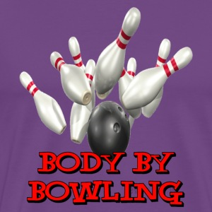 Purple Bowling Team Body By Bowling T-Shirts - Men's Premium T-Shirt