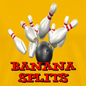 Yellow Bowling Team Banana Splits T-Shirts - Men's Premium T-Shirt