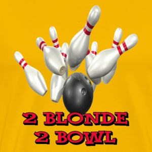 Yellow Bowling Team 2 Blonde 2 Bowl T-Shirts - Men's Premium T-Shirt