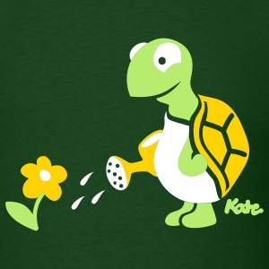 Forest green Turtle (c) T-Shirts - Men's T-Shirt