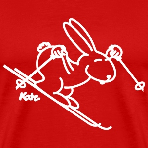 Red Snow Bunny T-Shirts - Men's Premium T-Shirt