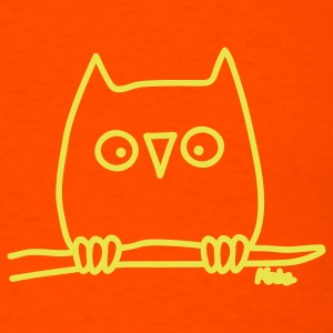 Orange Owl T-Shirts - Men's T-Shirt