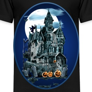 Haunted House Oval - Toddler Premium T-Shirt