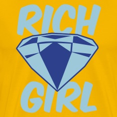 Gold rich girl with diamond jewel T-Shirts