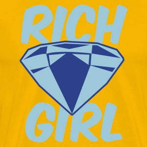 Gold rich girl with diamond jewel T-Shirts - Men's Premium T-Shirt