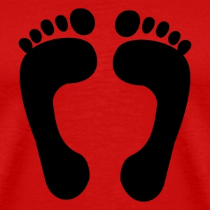 Red foot - feet - foot print T-Shirts - Men's Premium T-Shirt