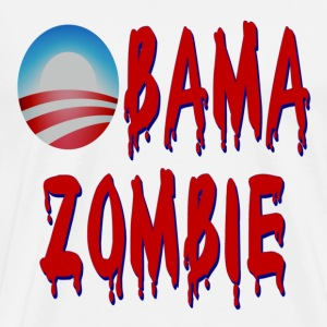 White Obama Zombie T-Shirts - Men's Premium T-Shirt