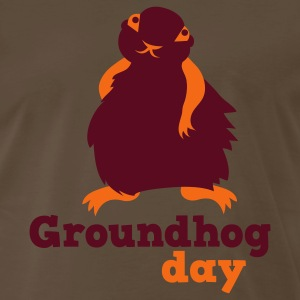 Brown groundhog day T-Shirts - Men's Premium T-Shirt