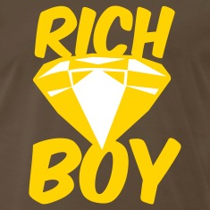 Brown rich boy with diamond jewel T-Shirts