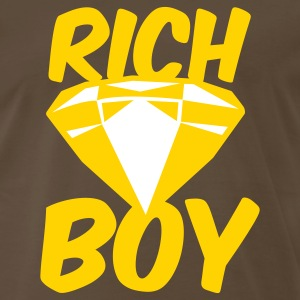 Brown rich boy with diamond jewel T-Shirts - Men's Premium T-Shirt