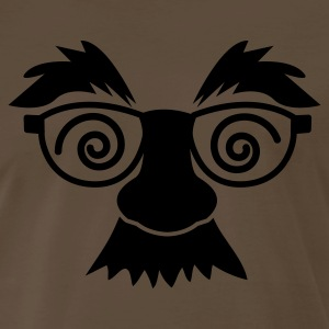 Brown disguise mask with glasses and moustache T-Shirts - Men's Premium T-Shirt