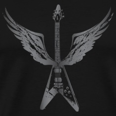 Flying V Guitar with Wings (Grey)