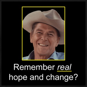 Black Reagan - Remember Real Hope & Change T-Shirts - Men's Premium T-Shirt