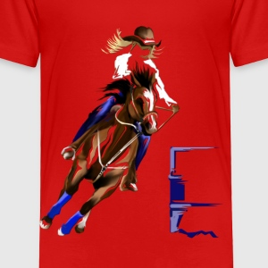 Barrel Horse - Toddler Premium T-Shirt