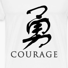 White courage - Chinese T-Shirts