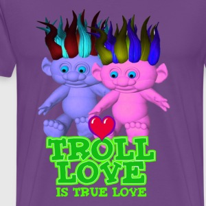 Purple Troll Love Is True Love T-Shirts - Men's Premium T-Shirt