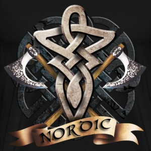 Black tribal_knot_viking_a T-Shirts - Men's Premium T-Shirt
