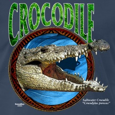 Navy Saltwater Crocodile T-Shirts