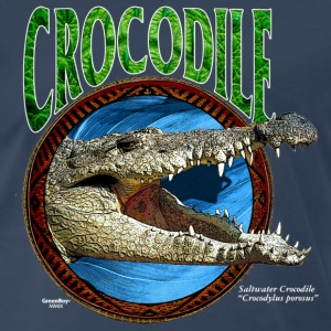 Navy Saltwater Crocodile T-Shirts - Men's Premium T-Shirt