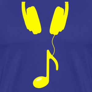 headphone note yellow - Men's Premium T-Shirt