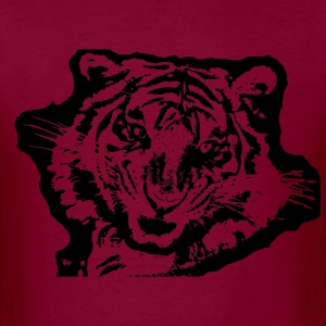 tiger stencil plain - Men's T-Shirt