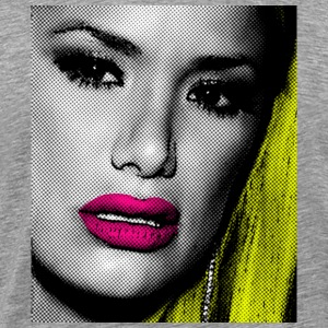 Heather grey pop art sexy girl T-Shirts - Men's Premium T-Shirt