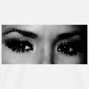 White pop art eyes T-Shirts - Men's Premium T-Shirt