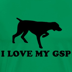 Sage GERMAN SHORTHAIRED POINTER - TEMPLATE T-Shirts - Men's Premium T-Shirt