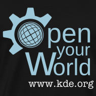 Design ~ KDE - Open Your World - Men's T