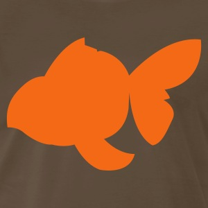 Brown pet goldfish shape T-Shirts - Men's Premium T-Shirt
