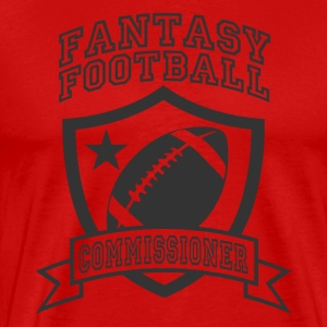 Red fantasy football commissioner T-Shirts - Men's Premium T-Shirt
