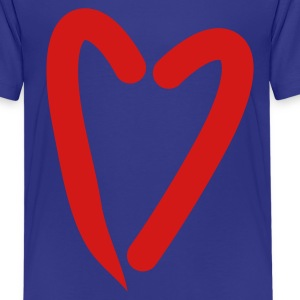 Turquoise funky as trendy red heart Kids' Shirts - Kids' Premium T-Shirt