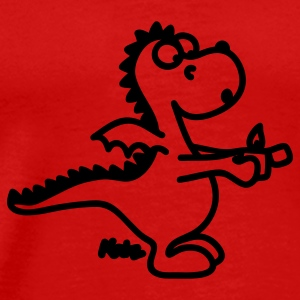 Red Dragon with lighter T-Shirts - Men's Premium T-Shirt