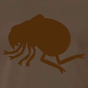 Brown a flea insect creature who bites T-Shirts - Men's Premium T-Shirt
