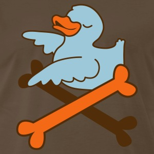 Brown rubber duckie and some pirate crossbones T-Shirts - Men's Premium T-Shirt