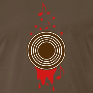 Brown record with stars and paint upright musical notes and stars as well ! T-Shirts - Men's Premium T-Shirt