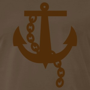 Brown a navy anchor T-Shirts - Men's Premium T-Shirt