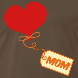 Brown mom pretty balloon and gift tag prestn for Mothers day ! T-Shirts - Men's Premium T-Shirt