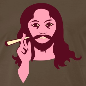 Brown hippy guy with reefer smoke T-Shirts - Men's Premium T-Shirt