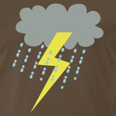 Brown raincloud clouds storm with lightning T-Shirts