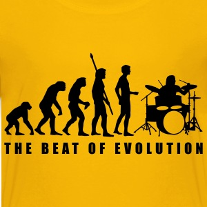 Yellow evolution_drummer_c_1c Kids' Shirts - Kids' Premium T-Shirt